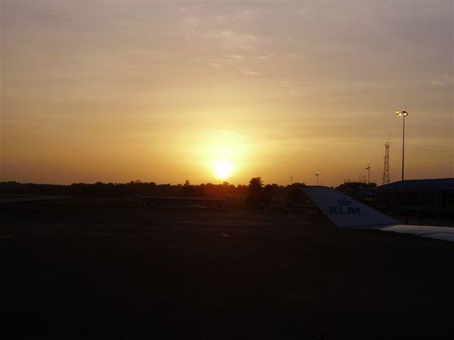Suriname zonsondergang